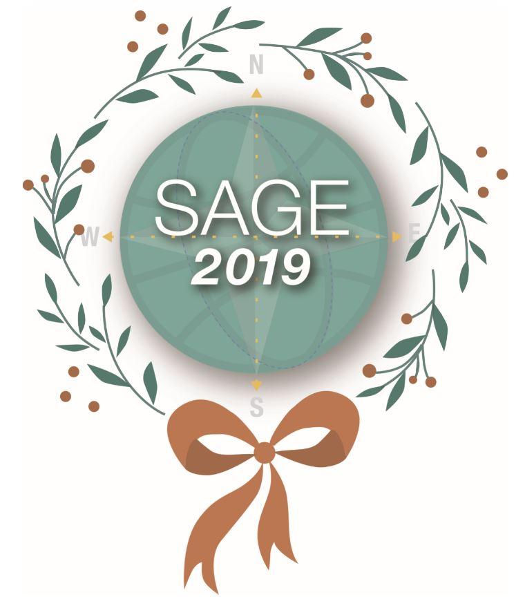SAGE Christmas Wreath Logo